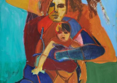 ©1974 Family Portrait, Acrylic & Mixed Media on Canvas, 48x60