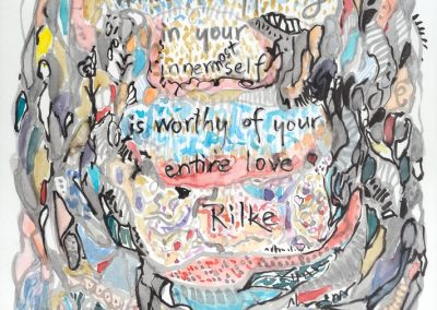 Artwork entitled Rilke Quote
