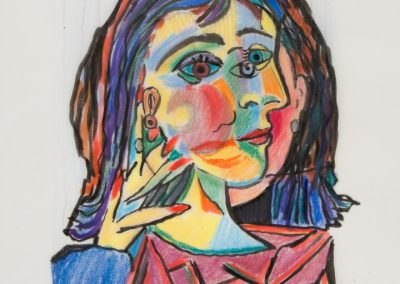 Self Portrait as Dora Maar, Colored Pencil on Velum, 8.5 x 11