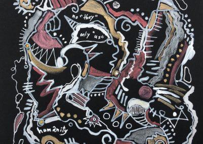 "Art by Renee Sandell entitled ""Humanity"""
