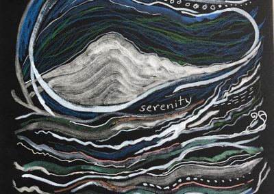 "Art by Renee Sandell entitled ""Serenity"""