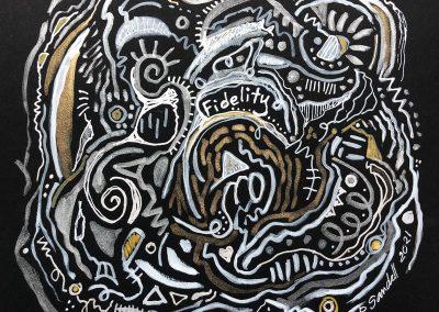 Art by Renee Sandell entitled Fidelity 2021