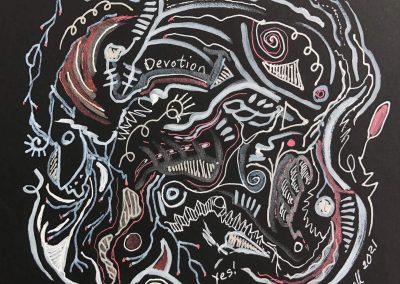 Art by Renee Sandell entitled Devotion 2021