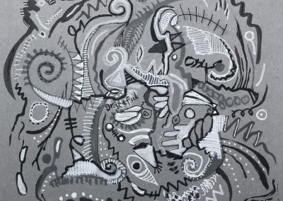 Art by Renee Sandell entitled Grateful 2021